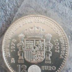Monedas FNMT: MONEDA 12 EURO ESPAÑA FNMT 2003 PLATA EN FUNDA DEL BANCO. Lote 242819415