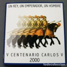 Monedas FNMT: CARTERA OFICAL 2.000 PESETAS AÑO 2000 V CENTENARIO CARLOS V. Lote 242906730