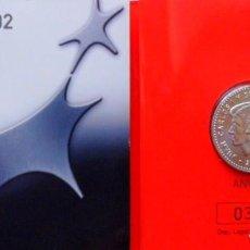 Monedas FNMT: CARTERA OFICIAL FNMT PRESIDENCIA DE LA UNIÓN EUROPEA EURO 2002 PRIMERA MONEDA DE PLATA 12€. Lote 243291440