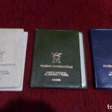 Monedas FNMT: 3 CARTERAS FABRICA NACIONAL DE MONEDA Y TIMBRES COMPLETAS Y PERFECTAS. AÑOS 76-77 Y 79. Lote 243527595