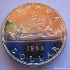 Monedas FNMT: CANADA . UN DOLAR DE PLATA ANTIGUO . AÑO 1963 . CALIDAD FANTASTICA. Lote 244472500