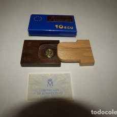 Monedas FNMT: 10 ECU. 1 ESTUCHE CON 1 MONEDA DE ORO. CALIDAD FLOR DE CUÑO. 1989.. Lote 244897255