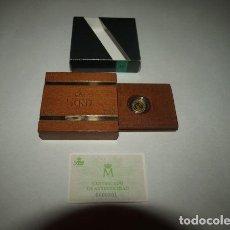 """Monedas FNMT: """"QUINTO CENTENARIO 1492-1992. PRENSA"""". 1 ESTUCHE CON 1 MONEDA DE ORO. 5.000 PTAS. CALIDAD PROOF. Lote 244898850"""