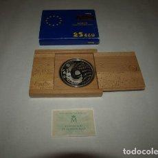 """Monedas FNMT: 25 ECU. """"MADRID CAPITAL EUROPEA DE LA CULTURA"""". 1 ESTUCHE CON 1 MONEDA DE PLATA. CALIDAD FLOR DE CUÑ. Lote 244899210"""