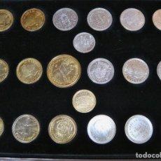 Monedas FNMT: LAS MONEDAS DE ESPAÑA: DE CARLOS IV A JUAN CARLOS I. LLEGA LA PESETA. BAÑO DE ORO Y BAÑO DE PLATA. Lote 245894555
