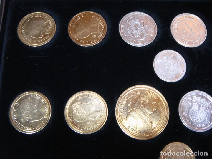 Monedas FNMT: Las monedas de España: de Carlos IV a Juan Carlos I. Llega la Peseta. Baño de oro y baño de plata - Foto 5 - 245894555