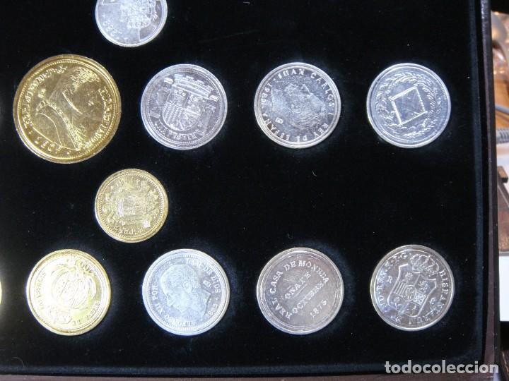 Monedas FNMT: Las monedas de España: de Carlos IV a Juan Carlos I. Llega la Peseta. Baño de oro y baño de plata - Foto 7 - 245894555