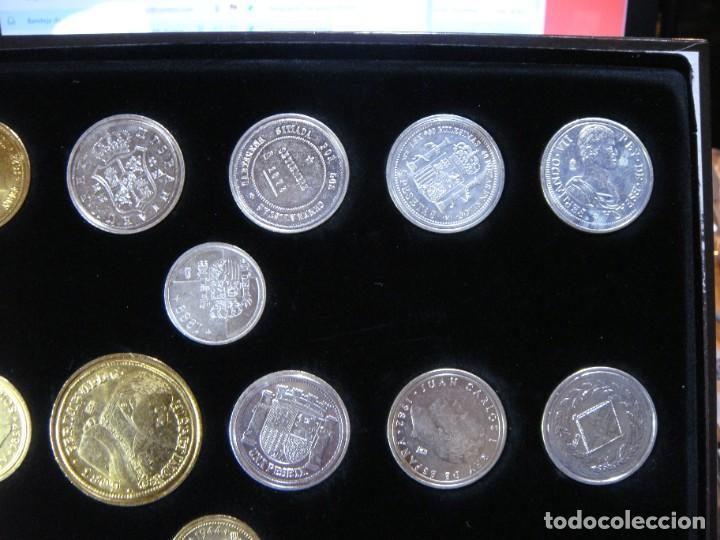Monedas FNMT: Las monedas de España: de Carlos IV a Juan Carlos I. Llega la Peseta. Baño de oro y baño de plata - Foto 8 - 245894555