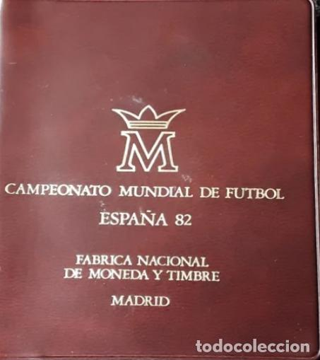 Monedas FNMT: CARTERA OFICIAL FNMT 1980 PRECINTADA FUTBOL MUNDIAL 1982 {ojo} - Foto 2 - 287543388