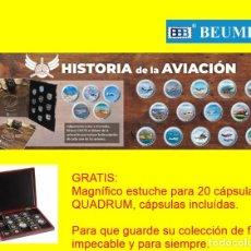 Monedas FNMT: ESTUCHE HISTORIA DE LA AVIACION. 20 MONEDAS.OFICIAL FNMT. Lote 255512165
