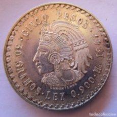 Monete FNMT: MEXICO . 5 PESOS DE PLATA MUY ANTIGUOS . AÑO 1947 . CALIDAD FANTASTICA. Lote 255965630