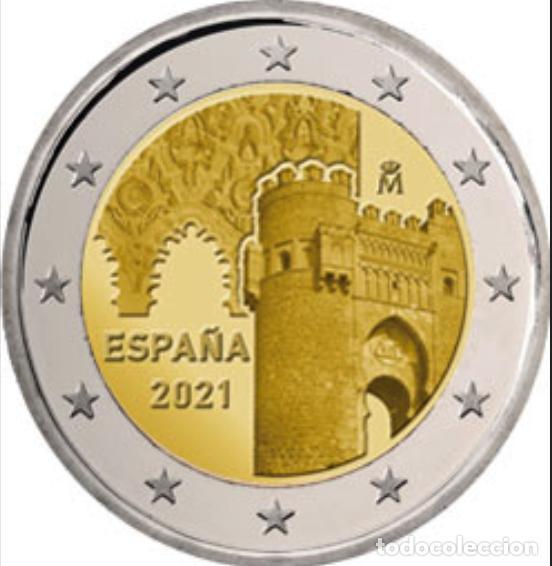 ESPAÑA 2 EUROS 2021 - CIUDAD HISTÓRICA TOLEDO * MONEDA CONMEMORATIVA*-ENCAPSULADA- (Numismática - España Modernas y Contemporáneas - FNMT)