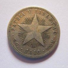 Monete FNMT: CUBA . VEINTE CENTAVOS DE PLATA MUY ANTIGUOS . AÑO DE 1918 . BELLA PATINA. Lote 258871250