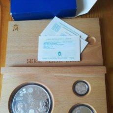 Monedas FNMT: SET MONEDAS FNMT 1995 25, 5, 1 ECU PLATA TEMA BARCOS. Lote 261326085