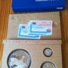Monedas FNMT: SET MONEDAS FNMT 1998 25, 5, 1 EURO PLATA TEMA MILITAR. Lote 261327135