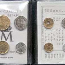 Monedas FNMT: D465T ESPAÑA JUAN CARLOS I CARTERA FNMT 8 MONEDAS 1993: 500+200+100+50+25+10+5+1 PESETAS- SC. Lote 263218810