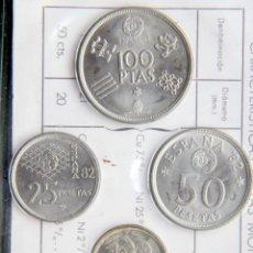 Monedas FNMT: D467T ESPAÑA JUAN CARLOS I CARTERA FNMT 6 MONEDAS 1980*80: MUNDIAL FUTBOL 82 - SC. Lote 263218845