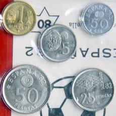 Monedas FNMT: D468T ESPAÑA JUAN CARLOS I CARTERA FNMT 6 MONEDAS 1980*80: MUNDIAL FUTBOL 82 - SC. Lote 263218860
