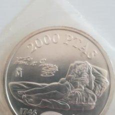 Monedas FNMT: MONEDA FNMT 2000 PESETAS ESPAÑA 1996 PLATA, FUNDA DEL BANCO, MAJA. Lote 263748970