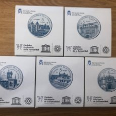 Monnaies FNMT: I SERIE CIUDADES UNESCO COMPLETA 5 EUROS PLATA PROOF CADA PIEZA. Lote 263963130