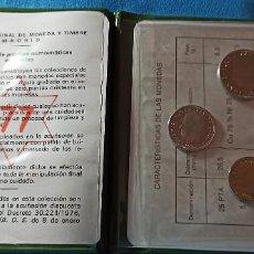 Monnaies FNMT: ESPAÑA CARTERITA JUAN CARLOS I 1975 * 77 SIN CIRCULAR. Lote 264479104