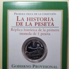 Monedas FNMT: RÉPLICA DE LA MONEDA DE 1 PESETA DE 1869 FNMT EN PLATA. Lote 264977969