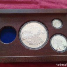Monedas FNMT: SET MONEDAS FNMT 1998 25, 5, 1 EURO PLATA 209 G TEMA MILITAR CON CERTIFICADO MONEDA DE ORO 200 EURO. Lote 266110723