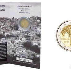 Monnaies FNMT: TOLEDO, CIUDAD HISTÓRICA. FNMT-RCM. 2 EURO. 2021. CARTERA NUMERADA. PROOF. Lote 267223404