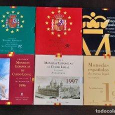 Moedas FNMT: ESPAÑA PESETAS - 6 CARTERAS FNMT AÑOS 1993, 1994, 1995, 1996, 1997, 1998 JUAN CARLOS S/C. Lote 267482259