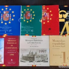 Moedas FNMT: ESPAÑA PESETAS - 7 CARTERAS FNMT AÑOS 1992, 1993, 1994, 1995, 1996, 1997, 1998 JUAN CARLOS S/C. Lote 267482479