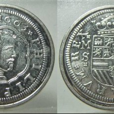 Monedas FNMT: MONEDA DE FELIPE IV 1663 REPRODUCCION DE LA FNMT BAÑO DE PLATA. Lote 270160598