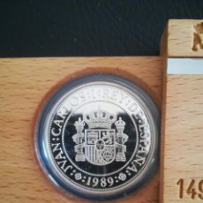 Monedas FNMT: MONEDA 5000 PESETAS ESPAÑA 1989 PLATA FNMT TEMA BARCOS. Lote 272023733