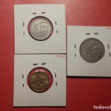 Monedas FNMT: LOTE 3 GUINEA ECUATORIAL 1, 5 Y 25 PESETAS DE LA F.N.M.T - ËPOCA ESPAÑOLA - GUINEANAS 1969 *19 *69. Lote 272305303