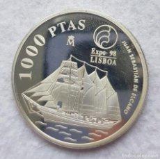 Monedas FNMT: 1000 PESETAS 1998 BARCO EXPO 98 PLATA JUAN SEBASTIAN ELCANO. Lote 275061123