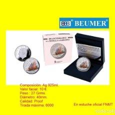 Monedas FNMT: 10 € ( 8 REALES). ESTUCHE OFICIAL FNMT. BATALLA DE LEPANTO.. Lote 277049183