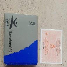 Monedas FNMT: 1992 JJOO BARCELONA SERIE 4 SOGATIRA. Lote 278488453