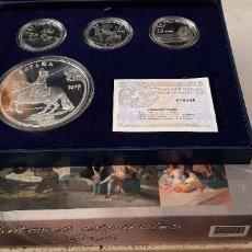 Monedas FNMT: 2010 SERIE PINTORES ESPAÑOLES COMPLETA . GOYA . 50€ + 3 X 10€-PROOF. Lote 278499348