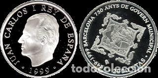 ESPAÑA 2000 PESETAS 1999 - BARCELONA 750 ANYS DE GOVERN MUNICIPAL -PROOF CAJA Y CERTIFICADO (Numismática - España Modernas y Contemporáneas - FNMT)