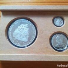Monedas FNMT: SET MONEDAS FNMT 1995 25, 5, 1 ECU PLATA TEMA BARCOS. Lote 286773748