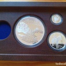 Monedas FNMT: SET MONEDAS FNMT 1998 25, 5, 1 EURO PLATA 209 G TEMA MILITAR CON CERTIFICADO MONEDA DE ORO 200 EURO. Lote 286776283