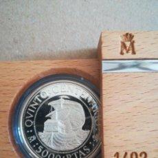 Monedas FNMT: MONEDA 5000 PESETAS ESPAÑA 1989 PLATA FNMT TEMA BARCOS PROOF. Lote 287668618
