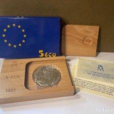 Monedas FNMT: MONEDA DE PLATA 5 ECU AÑO 1989 DE LA FÁBRICA NACIONAL DE MONEDA Y TIMBRE ESPAÑA -ORIGINAL (GP). Lote 287688933