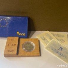Monedas FNMT: MONEDA DE 1 ECU AÑO 1989 DE LA FÁBRICA NACIONAL DE MONEDA Y TIMBRE ESPAÑA -ORIGINAL (GP). Lote 287691058