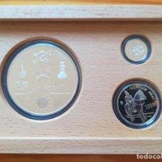 Monedas FNMT: SET MONEDAS FNMT 1998 25, 5, 1 EURO TEMA MILITAR 209 GR PLATA 925. Lote 289010193