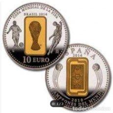 Monedas FNMT: MONEDA EN PLATA MUNDIAL BRASIL 2014 EN ESTUCHE. 10 €.. Lote 289364833