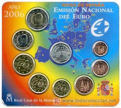 CARTERA SET OFICIAL MONEDAS 2006 FNMT MEDALLA ADHESION A LAS COMUNIDADES EUROPEAS (Numismática - España Modernas y Contemporáneas - FNMT)