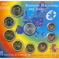 Monedas FNMT: CARTERA SET OFICIAL MONEDAS 2006 FNMT MEDALLA ADHESION A LAS COMUNIDADES EUROPEAS. Lote 289562043