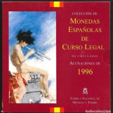 Monedas FNMT: COLECCIÓN DE MONEDAS ESPAÑOLAS DE CURSO LEGAL NO CIRCULADAS ACUÑACIONES DE 1996 FNMT. Lote 293687193
