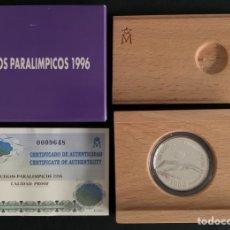 Monedas FNMT: CMC 1000 PESETAS 1996 JUEGOS PARAOLIMPICOS (PLATA) PROOF. Lote 293951193