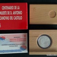 Monedas FNMT: CMC 1000 PESETAS 1997 CENTENARIO DE LA MUERTE DE DON ANTONIO CANOVAS DEL CASTILLO (PLATA) PROOF. Lote 293952578